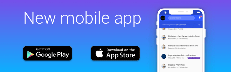 Mobile app now on Android and iOS